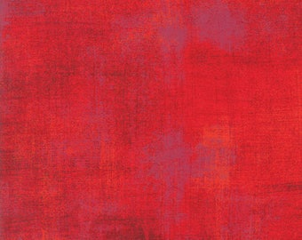 Moda Grunge Basics ROCACCO Red Mottled Background 30150-332 Fabric BTHY