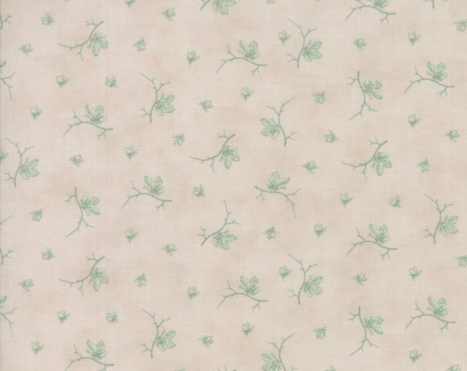 Moda 3 Sisters Quill Grey Gray Beige Floral Butterfly Branch Fabric 44157-21 BTY