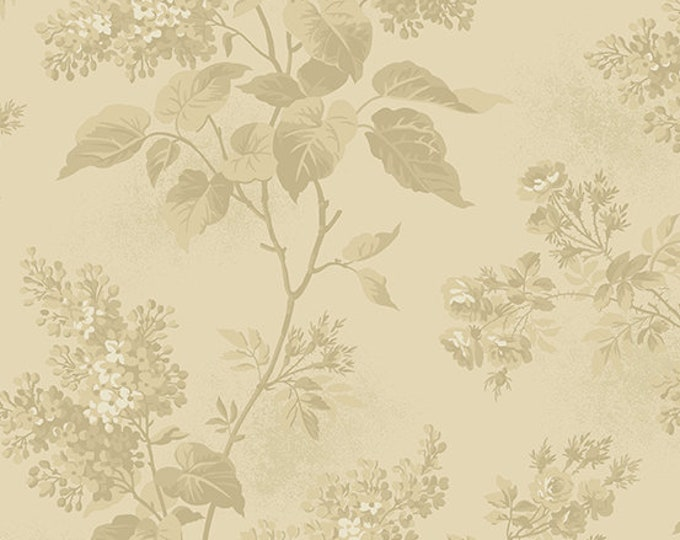 Andover Laundry Basket Quilts LBQ Edyta Sitar Blue Sky Cream Beige Tonal Floral Fabric A-8505-N BTY