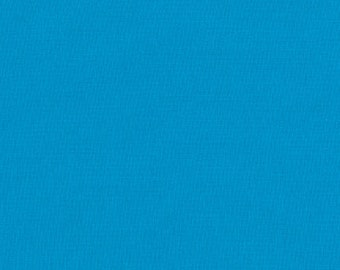 Robert Kaufman Kona Cotton Solids TURQUOISE 1376 Aqua Cerulean Blue Fabric BTY