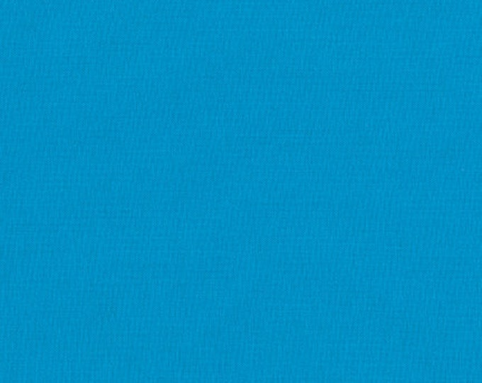 Robert Kaufman Kona Cotton Solids TURQUOISE 1376 Aqua Cerulean Blue Fabric BTY