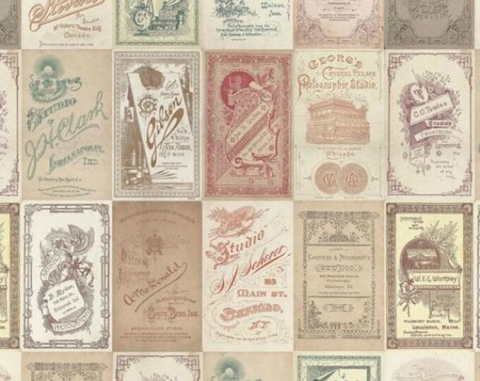 Free Spirit Tim Holtz - Foundations - Photo Card Fabric PWTH013 BTY