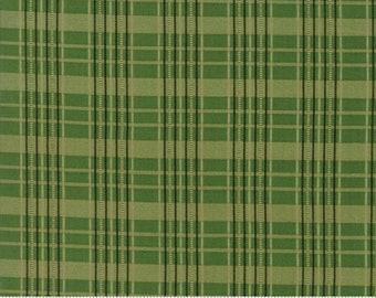 Moda Betsy Chutchian Hopes Journey Spring Meadow Civil War Green Tan Plaid Fabric BTY 31533-13