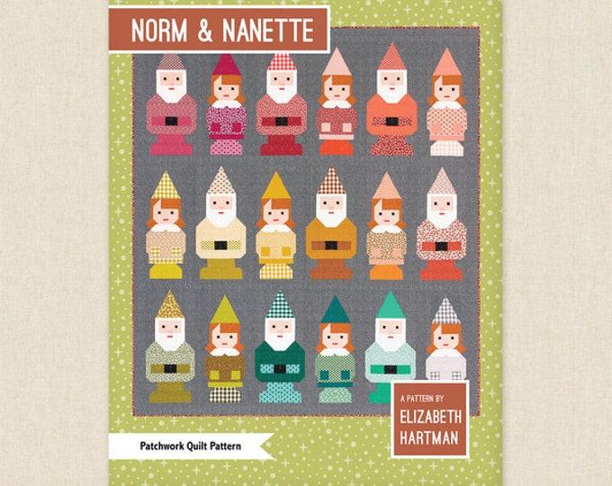 Elizabeth Hartman Norm and Nanette Gnome Modern Quilt Pattern 2 Sizes