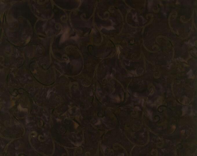 RJR Jinny Beyer Malam Batik Deep Brown Chocolate Bark Swirl Batik 1765-003 Fabric BTY