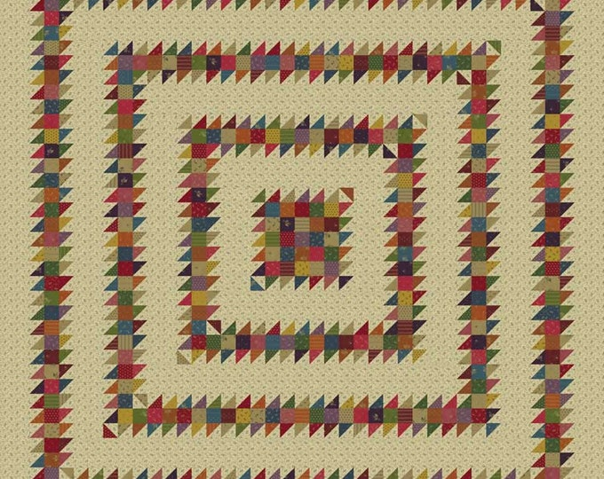 NEW Dazed and Confused Primitive Gatherings Flower Garden Gatherings Fabric Complete Quilt KIT 82 x 82
