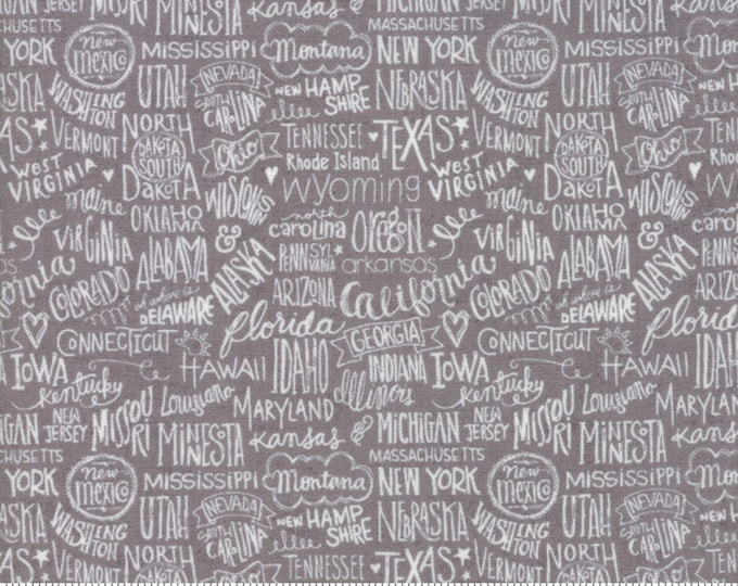 Moda Basic Grey METROPOLIS Primer Stately Grey Gray  30561-16 Fabric BTY