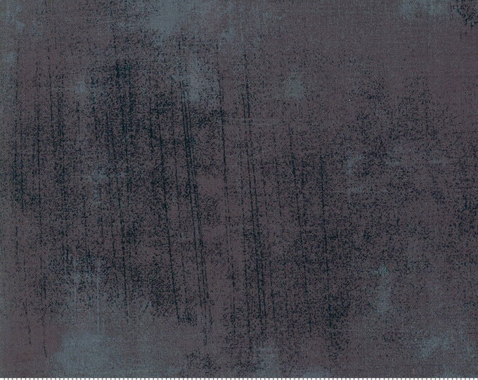 Moda Grunge Basics New CORDITE Black Blue Gray Grey Background Fabric 30150-454 BTY