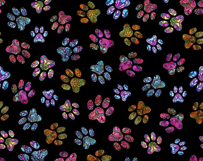 Quilting Treasures Purr Suasion Kitty Cat Kitten Paws Fabric 26645-J BTY