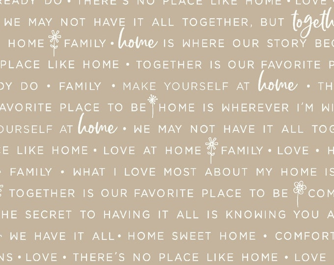 Maywood Fabric MAS9395-T Make Yourself at Home Home Phrases  BTY