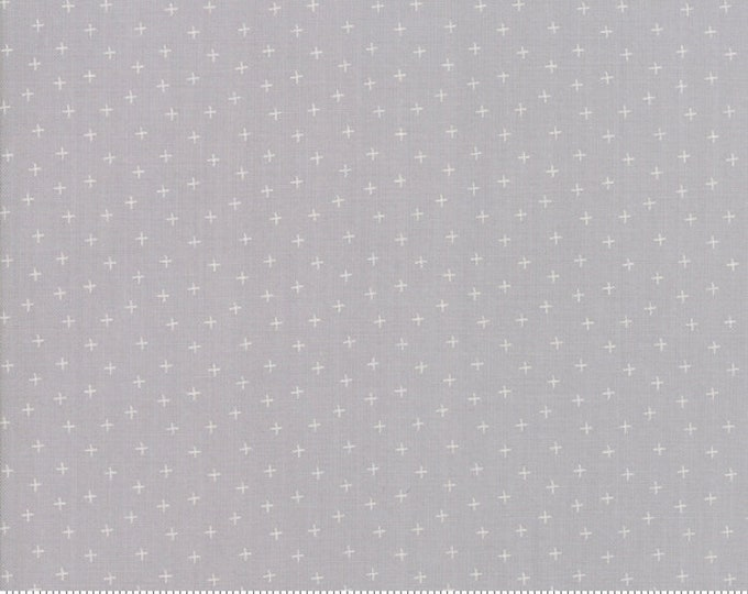 Moda Strawberry Jam Corey Yoder Floral Plus Dusk Cloud Gray Grey White 29067-33 Fabric BTY