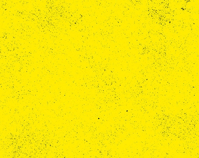 Andover Spectrastatic Giucy Giuce SUN Yellow Black Speckle Static Dot Fabric BTY 9248-Y