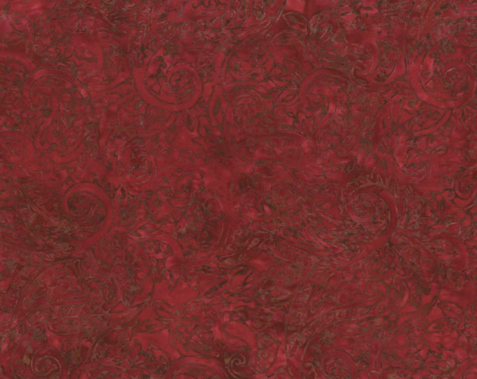 RJR Malam Jinny Beyer Batik Barn Red Brown Fabric 2144-006 BTY