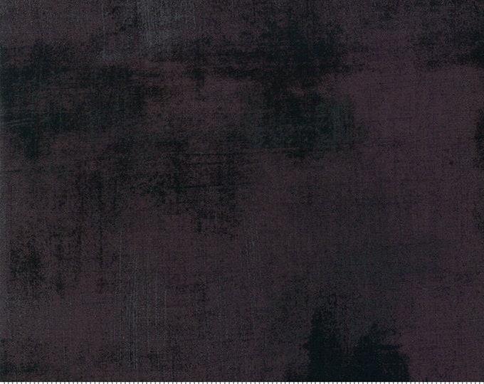Moda Grunge Basics IRON Black Gray Grey Charcoal Graphite Mottled Background Fabric 30150-438 BTY