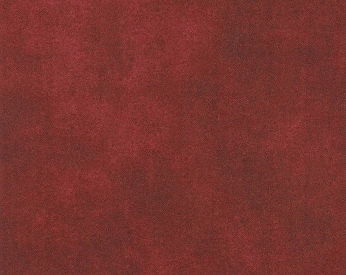 Maywood WOOLIES Color Wash Flannel Fabric Bordeaux Deep Red Brick 9200-M BTHY