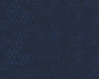 Andover Dimples Gail Kessler Basic Textured Blender Midnight Hour Navy Blue 1867-B7 BTY