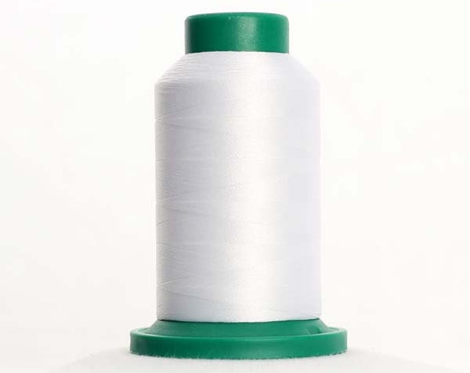 ISACORD Polyester Embroidery Thread Color 0010 Silky White 1000m