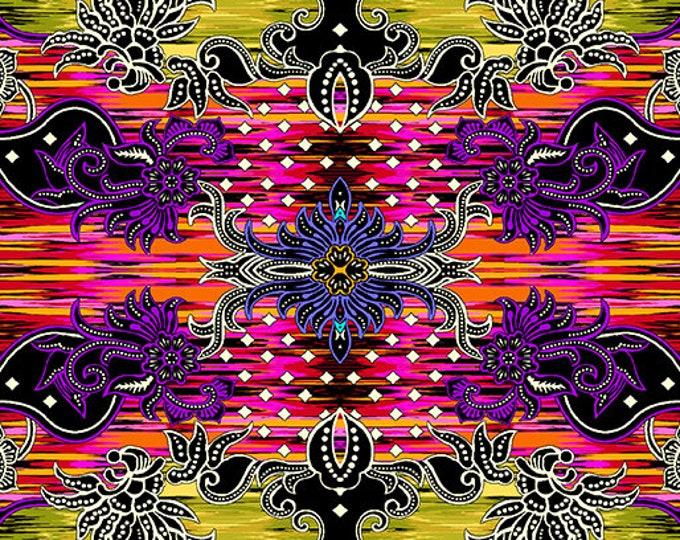 Benartex Fabric Bali Pink Multi  By PAULA NADELSTERN Item 0253022B  SKU 2530-22  Collection: Where in the World