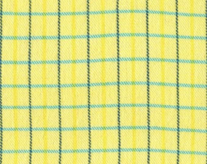 Marcus Primo Plaids Flannel Color Crush Yellow Teal Green Plaid Fabric 9774-0133 BTY