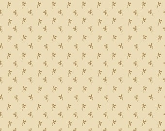 Marcus Elizabeth's Dowry Civil War Cream Beige Shirting Background Fabric 5012-0177 BTY