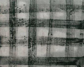 Treasure Hunt by Marcia Derse PJ Buffalo Plaid Grey with Black 43192-24 Fabric BTY