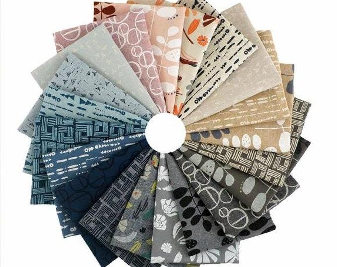 Kaufman Forage Noodlehead Anna Graham Essex Linen Cotton 20 Fat Quarter Fabric Bundle