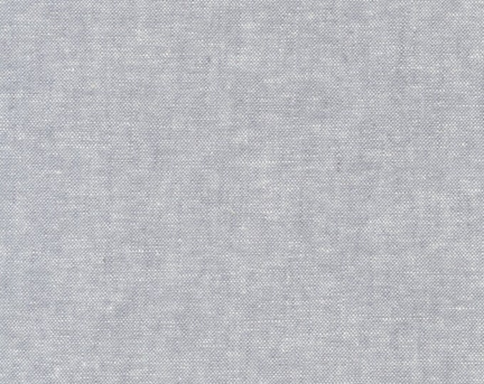 Kaufman Essex Yarn Dyed STEEL Gray Grey Cotton Linen Blend Canvas Fabric E064-91 BTY