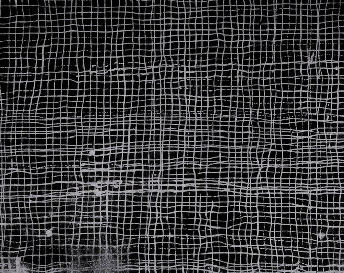 Treasure Hunt by Marcia Derse Night Plaid Lines Grey with Black 43191-21 Fabric BTY