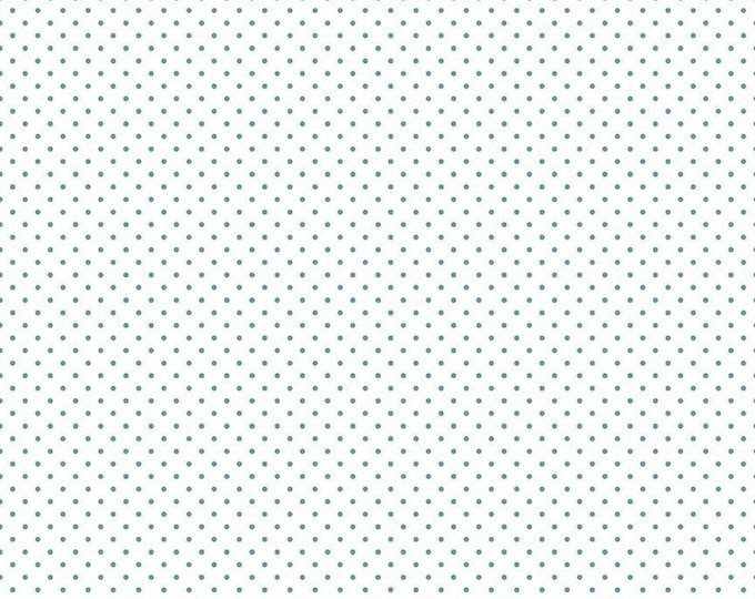Riley Blake Designs Small Dots TEAL C660 Cotton Fabric BTY