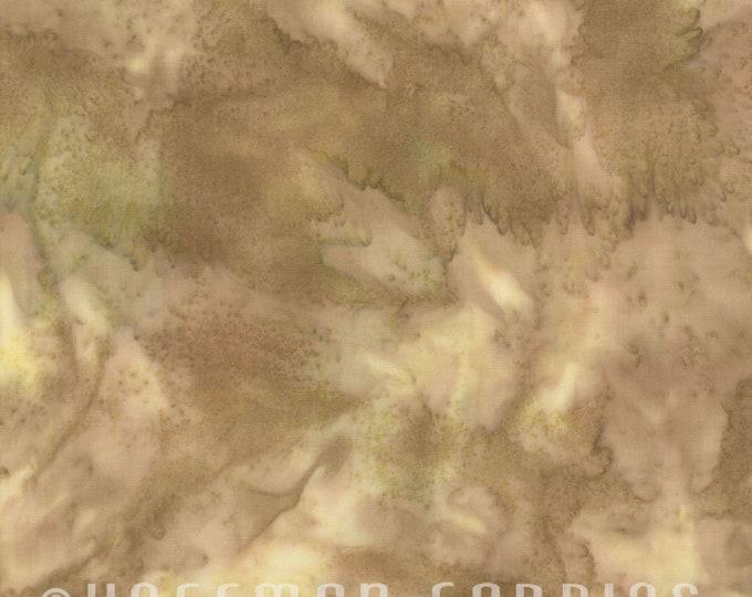 Hoffman 1895 Watercolors Solid Batik Fabric 1895-36 Amber Light Tan Green BTY