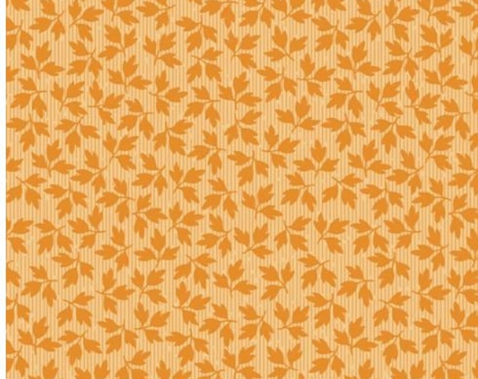 Maywood Fabric MAS9329-O Orange Floral Leaves A Fruitful Life BTY
