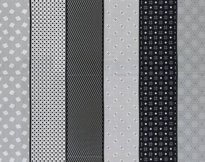 Moda Jen Kingwell Lollies Sweetie Black Grey Stripe 18130-18 Multi Fabric BTY