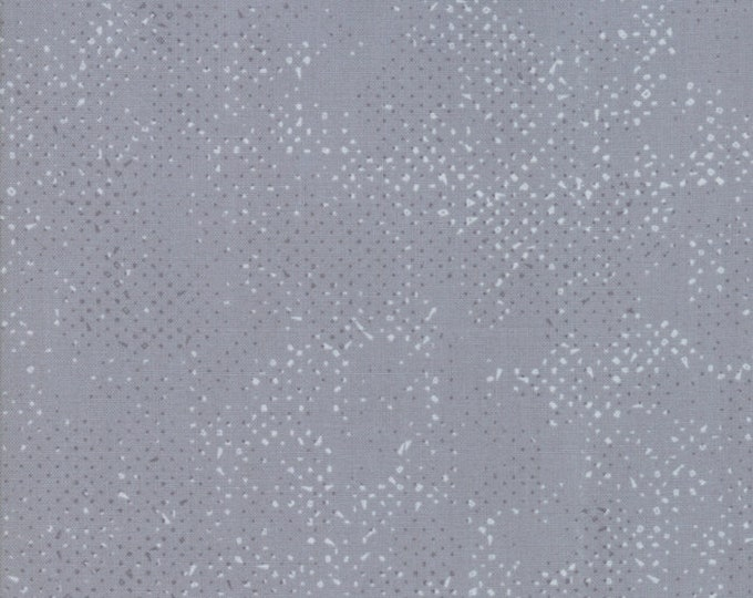 Moda Zen Chic Spotted Steel Silver Grey Gray Blender Background Fabric 1660-52 BTY