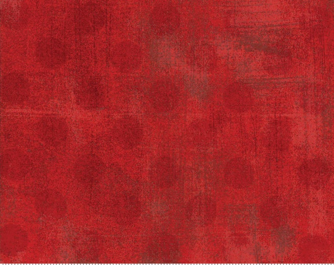Moda Grunge Basics Flag RED Crimson Brick Hits the Spot Fabric 30149-22 BTY