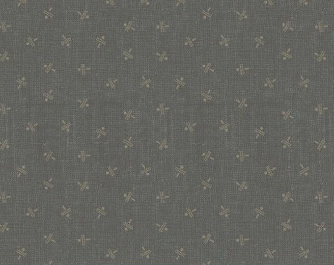 Windham Manor House Upstairs and Downstairs Jeanne Horton Gray Grey Taupe Civil War Reproduction Fabric 41538-1 BTHY