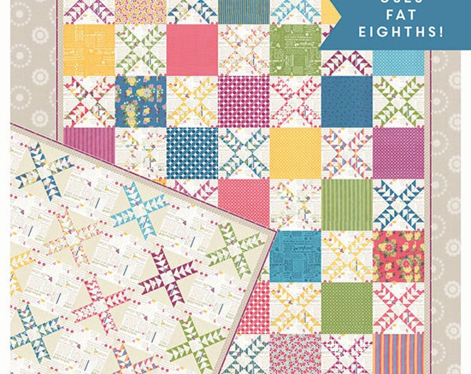 Johnny Jump Up Layer Cake Friendly 2 patterns in one Quilt Pattern