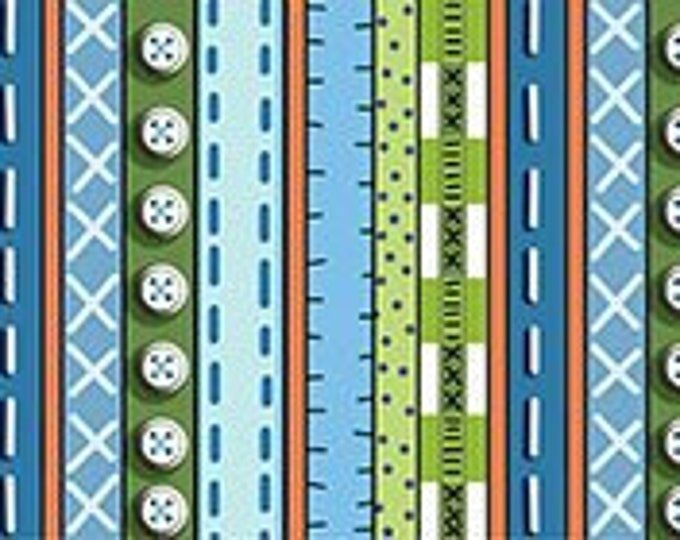 Quilting  Patchwork Farms - Stripe blue Fabric 26113-B BTY