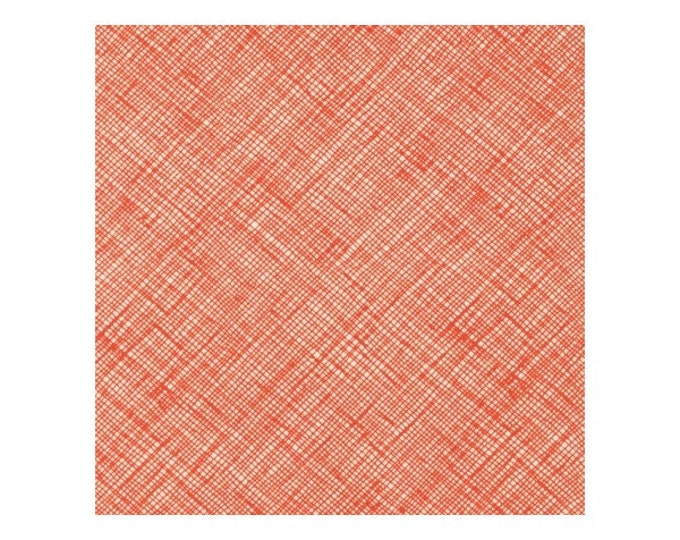 "Robert Kaufman Carolyn Friedlander 54"" wide Orange criss cross Architextures Fabric BTY"