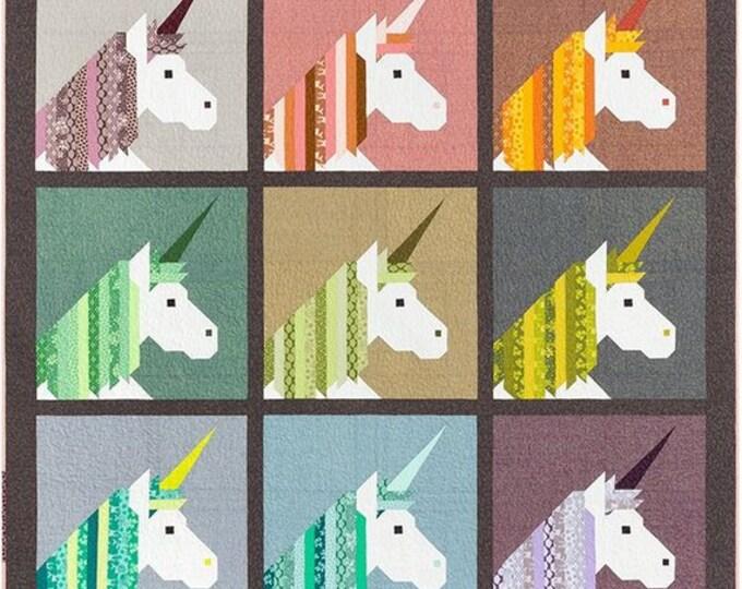 Robert Kaufman Lisa the Unicorn Elizabeth Hartman Quilt Modern Kit and Pattern 3 Sizes