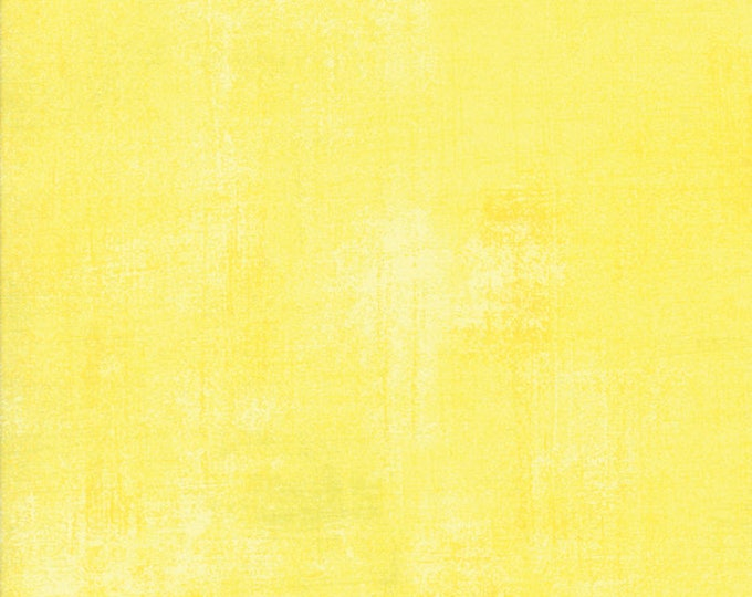 Moda Basic Grey Grunge LEMON DROP Yellow 30150-321 Fabric BTY 1 yd