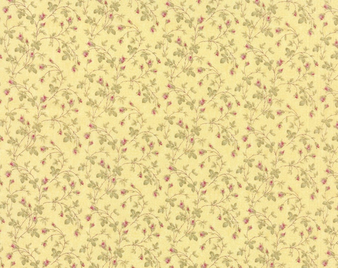 Moda 3 Sisters Favorites Yellow Shabby Chic Floral Vines Fabric 3734-14 BTY