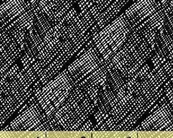 Windham Hatch Hatched Black Ink Weave Criss Cross Blender Fabric 42689-1 BTY