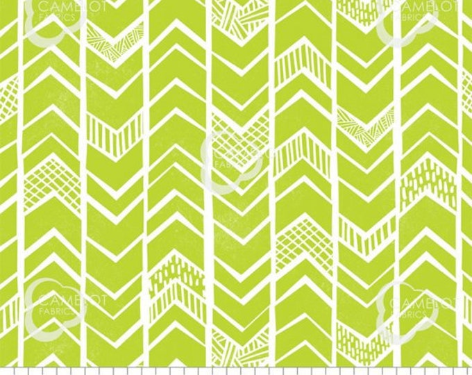 Camelot Fabrics  Mod Blocks - 27180110 - 004 - Green - Novelty BTY