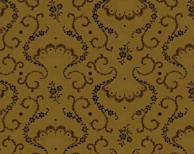 Windham Kindred Spirits 2 Brown Gold Black Accents Civil War Reproduction 40217A-1 Fabric BTY