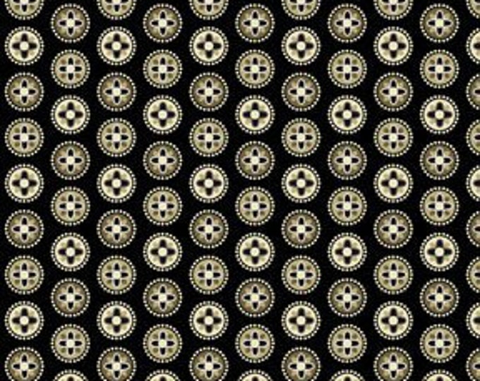 Benartex Fabric Palm Court Mini Medallion Brown by Michele D'Amore  Cotton 03422-12  BTY