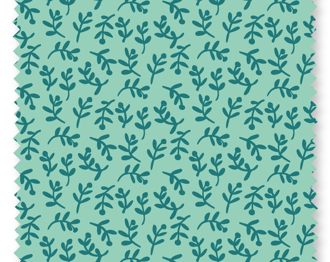 Felicity fabric 600038 Florets Green BTY