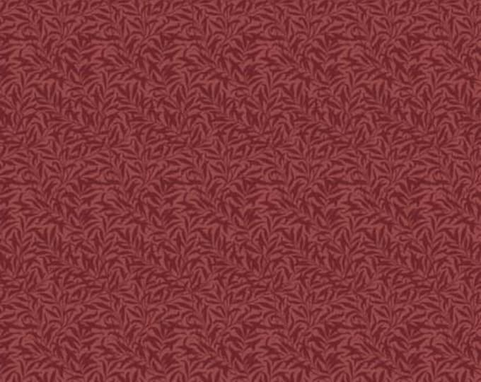 Free Spirit Merton by Morris & Co. Willow Boughs Red Crimson Leaf Leaves Leafy Fabric PWWM011 BTY