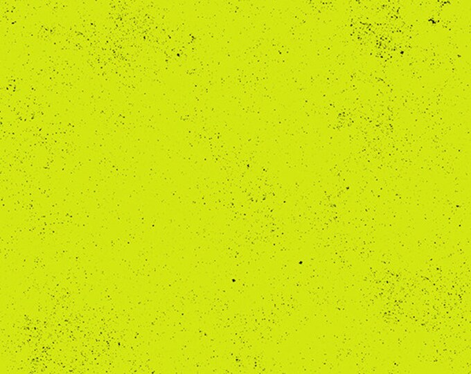 Andover Spectrastatic Giucy Giuce LIGHTNING Green Key Lime Black Speckle Static Dot Fabric BTY 9248-G2