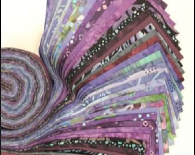 PSQ Exclusive Jelly Roll Purple 40 2.5 Inch Fabric Strips SYQ