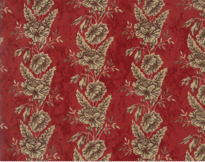 Moda Betsy Chutchian Rachel Remembered Turkey Red Civil War Floral Fabric 31541-15 BTY